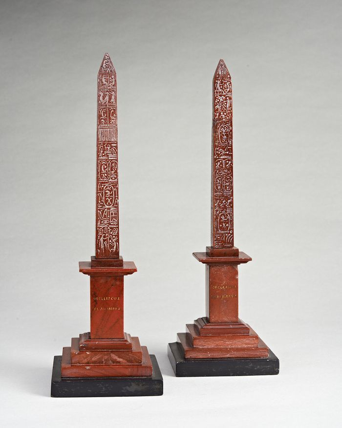 Pair of Grand Tour Rosso Antico Obelisks - Archive Neoclassical Antiques UK