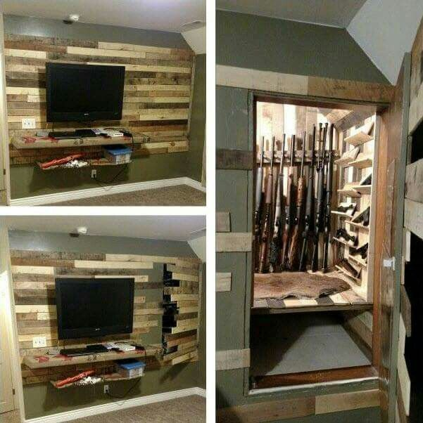 25 best ideas about in wall gun safe on pinterest for Hidden gun room