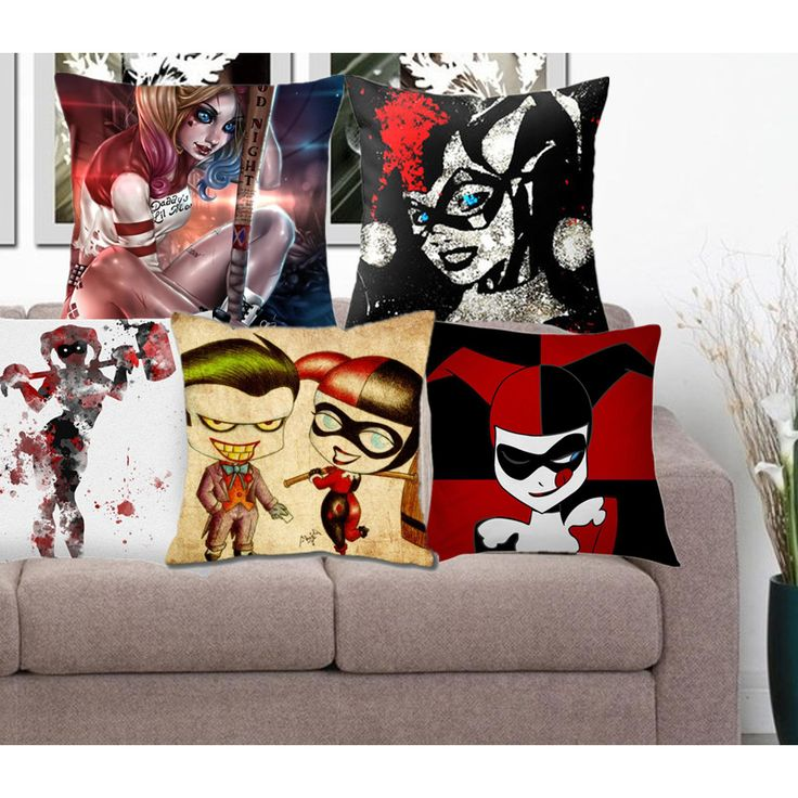 Harley Quinn Pillow Cover Price: US $ 10.03 For more items please visit our store: http://dcworldshop.com