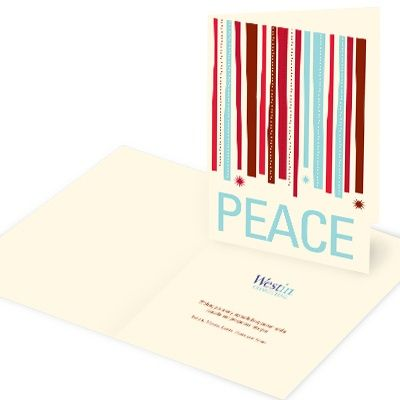 23 best holiday card images on pinterest business holiday cards business holiday card peace flows down reheart Image collections
