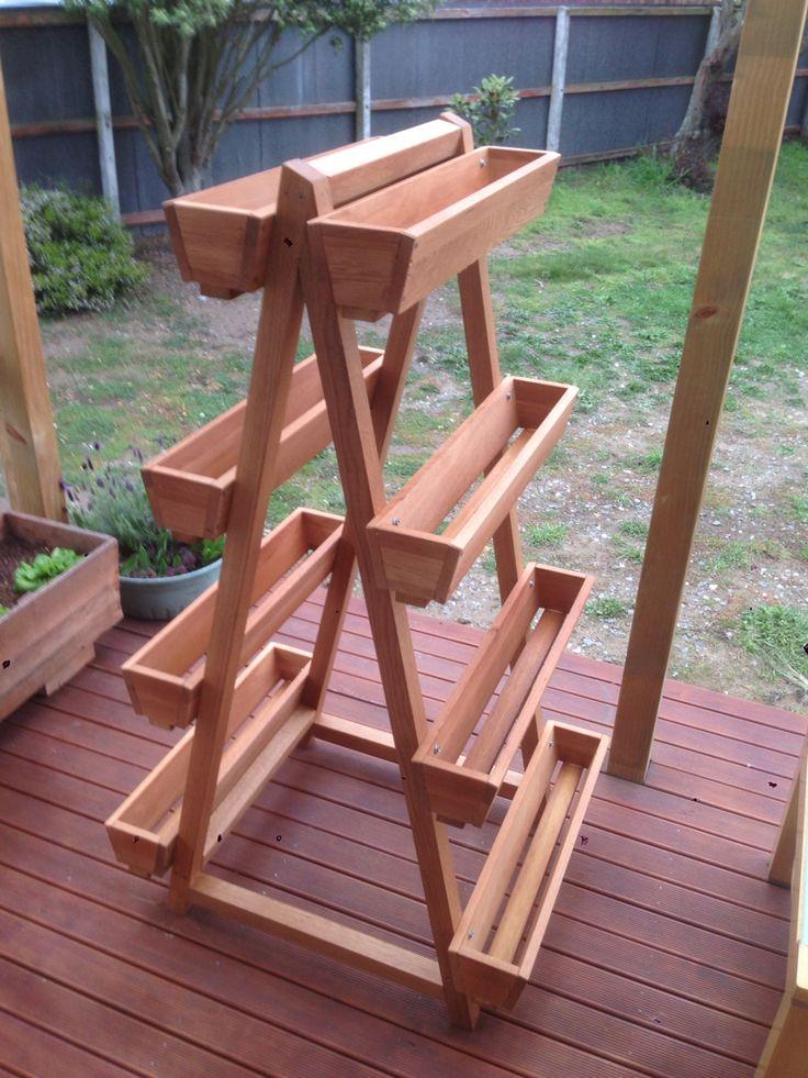A-frame lettuce/herb planter. Oak