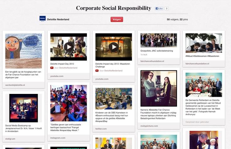 Corporate Social Responsibility (CSR) | Deloitte NL | Eigenlijk meer een corporate statement dan campagne, maar wel goed gedaan...
