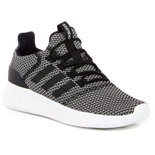 adidas Cloudfoam Ultimate Sneaker (Women) ($63) ❤ liked on Polyvore featuring shoes, sneakers, adidas footwear, lacing sneakers, laced shoes, round cap and rubber shoes