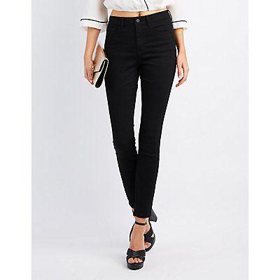 Refuge Black Hi-Rise Skinny Jeans - Size 14