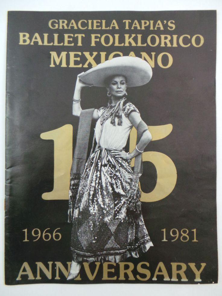 1981 GRACIELA TAPIA'S Ballet Folklorico Mexicano Dance PROGRAM Alberto De Velasc