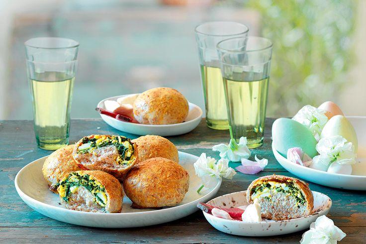 Panini integrali con uova e spinaci