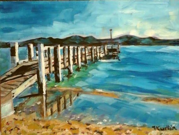 Maraetai Beach No.2  original oil painting by Vicky Curtin