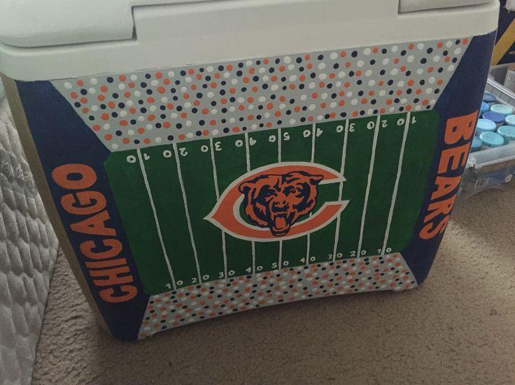 Chicago Bears football stadium cooler