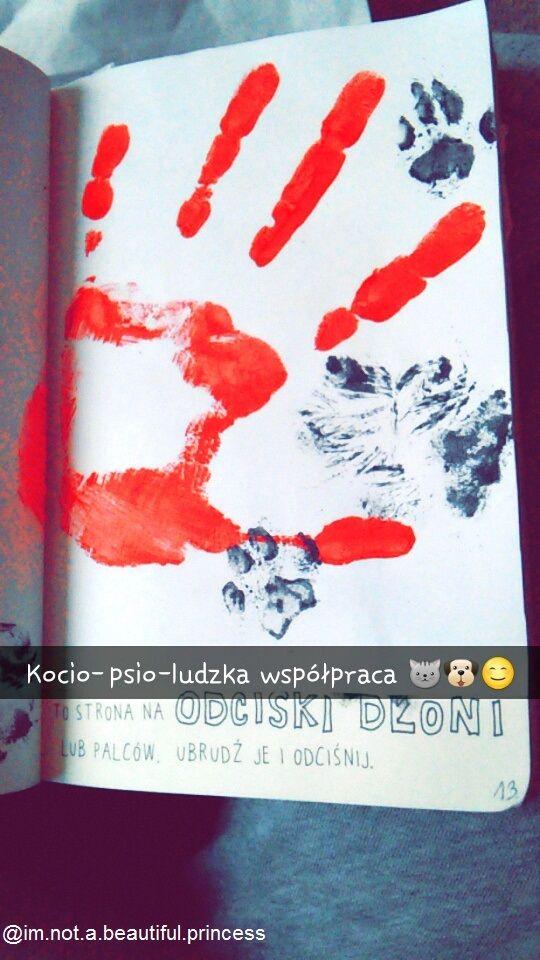 Podesłała Paulina Antoszczak #zniszcztendziennikwszedzie #zniszcztendziennik #kerismith #wreckthisjournal #book #ksiazka #KreatywnaDestrukcja #DIY
