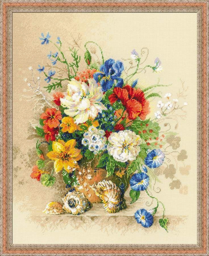 "Counted Cross Stitch Kit RIOLIS - ""Flemish Summer"""
