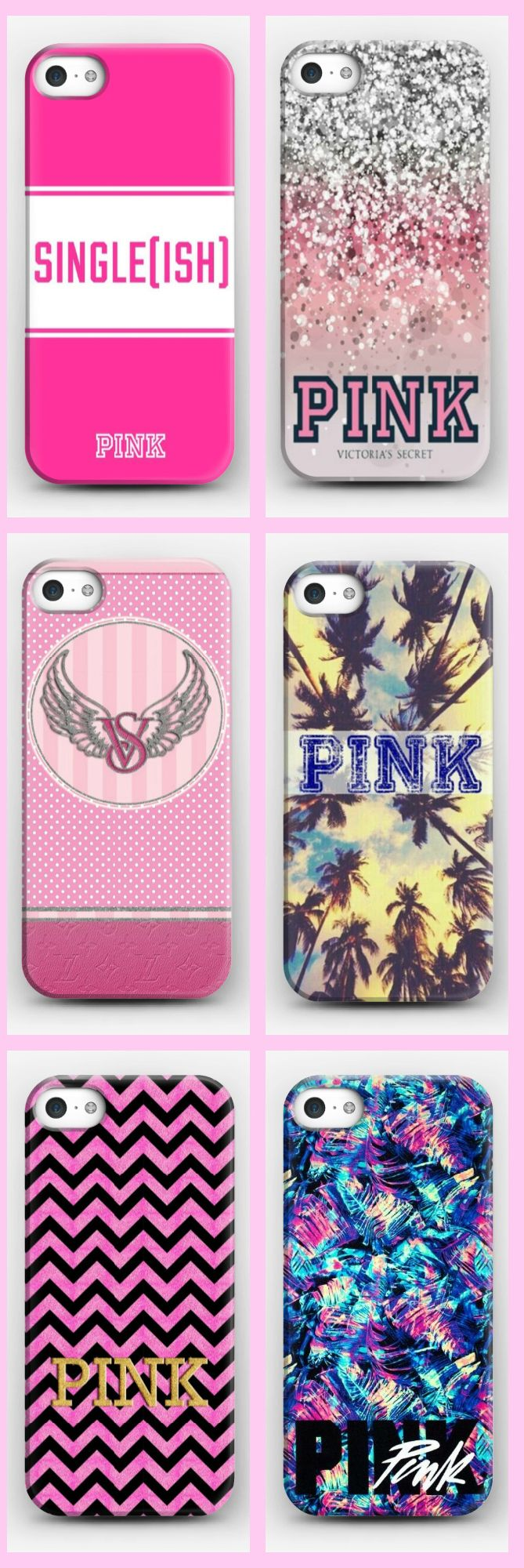 Victoria's Secret PINK 1986 PC Hard Case Covers For iPhone 4S 5 5s 5C 6 6S plus