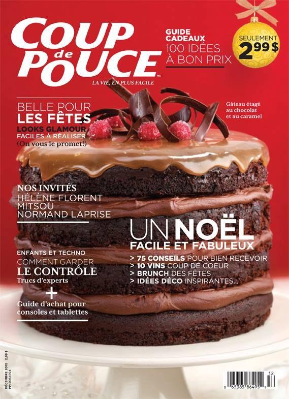 Notre appétissante couverture de décembre 2012 a gagné plusieurs prix! Merci au Gâteau étagé au chocolat et au caramel ;) Ce numéro marque aussi la première parution de la version iPad du magazine!  #CDP30