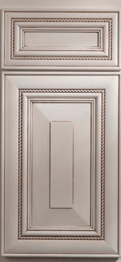 DeWils Industries Door Style- Olympia Paint- Just White with Brown Glaze