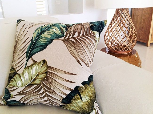 tropical cushions palm leaf design island home emporium