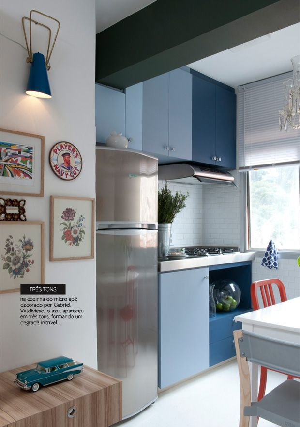 ombre blue kitchen #decor #kitchen