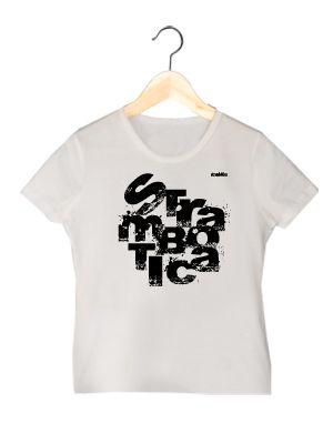 Camiseta de algodón orgánico en color blanco para chica  TLBM  www.strambotica.es