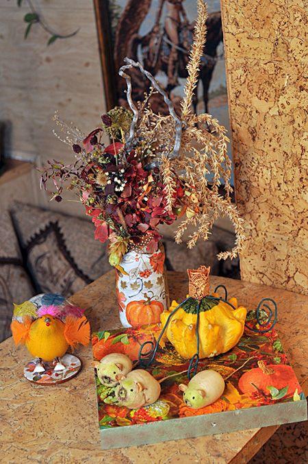 Карета для Золушки и птица-осень - поделки из природных материалов