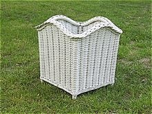 Art Deco Wicker Planter/Fernery Heywood-Wakefield Company