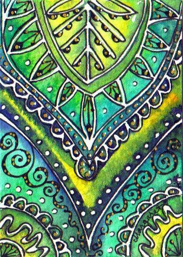 BATIK #78R SILK SARI SUNLIT LEAVES 2 by Margaret Storer-Roche, via Flickr