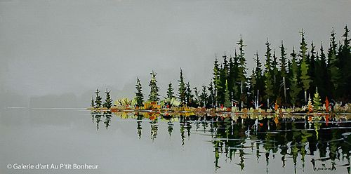 Allan Dunfield, 'Mist Calm', 24'' x 48'' | Galerie d'art - Au P'tit Bonheur - Art Gallery