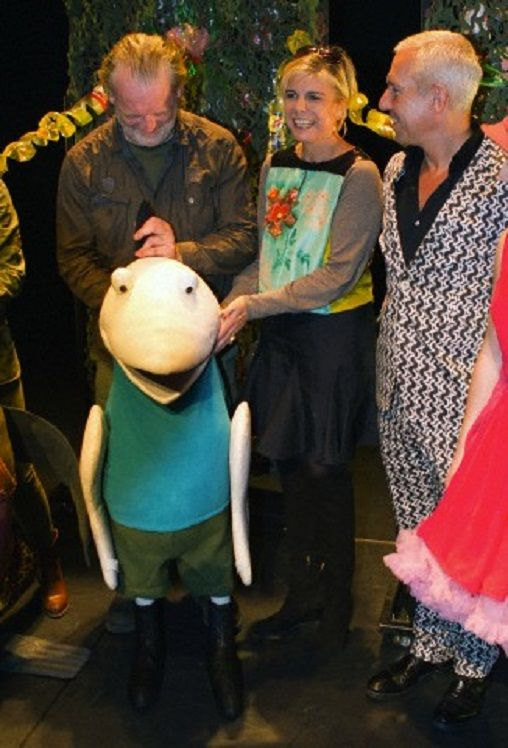 HRH Princess Laurentien, Sieb Posthuma and the cast of Mr Finney attend the premiere of the new family-show of 'Mr.Finney' in Theater Diligentia in The Hague, The Netherlands, 30.10.13. The show is based on the books written by Princess Laurentien and Sieb Posthuma.