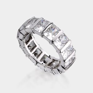 Radiant Cut 14K Wedding Band. This Stunning High Quality Cubic Zirconia Ring
