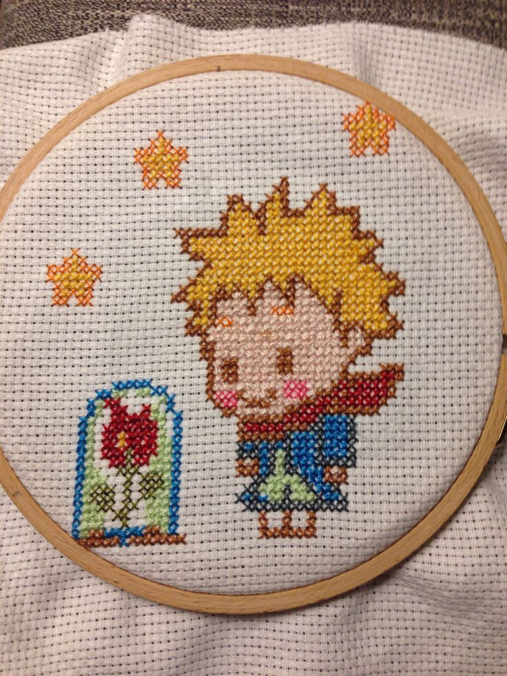 Little prince cross stich