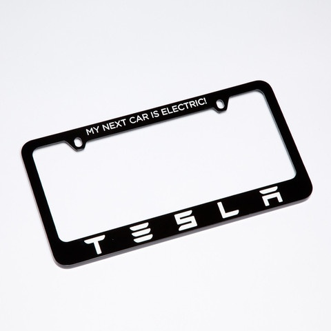 tesla license plate frame my next car is electric http