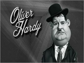 Rob Snow | caricatures - Oliver Hardy art | decor | wall art | inspiration | caricatures | home decor | idea | humor | gifts