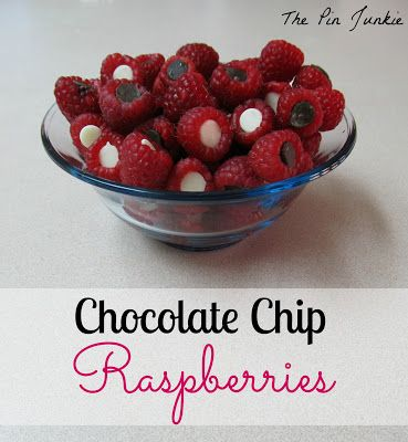The Pin Junkie: Chocolate Chip Raspberries