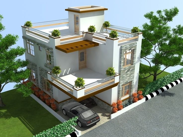 The 25 best indian house designs ideas on pinterest for Small indian house images