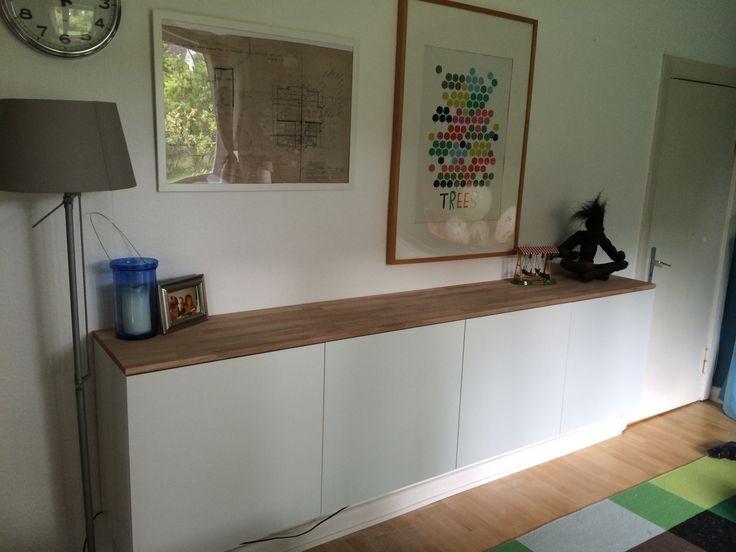 Ikea Hack. K?chenschrank mit Buchenplatte (Bauhaus). Aufwand ca. 3 ...