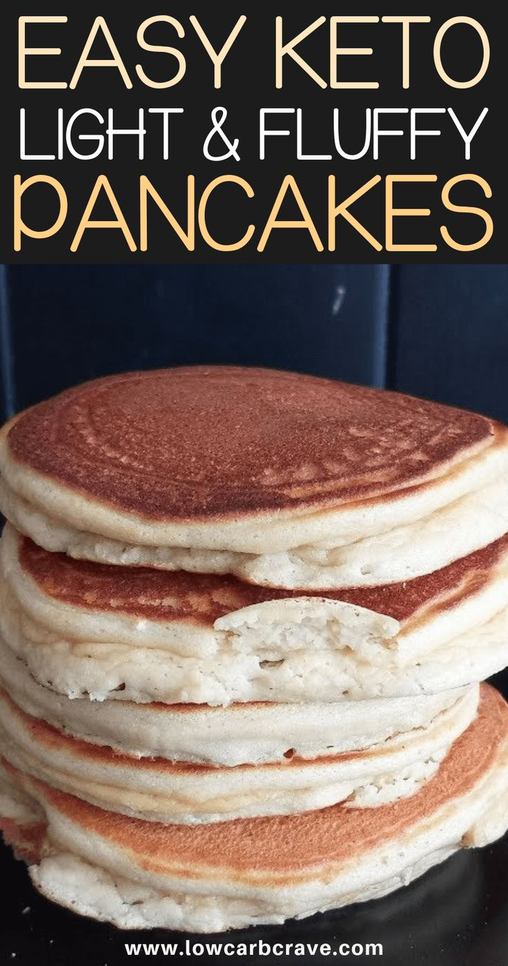 Easy Fluffy Low Carb Keto Pancakes