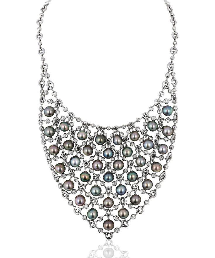Andreoli Tahitian pearl bib necklace #brittspick