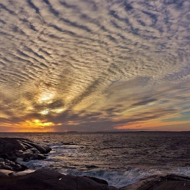 The sunset before a winter storm in Nova Scotia will take your breath away.