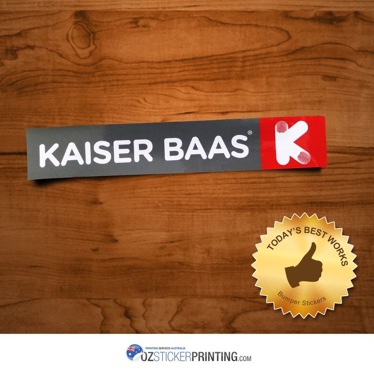 Kaiser Baas Australia & New Zealand Bumper Stickers (285x50mm - Rectangle) Order Bumper Stickers for as low as $49 only!