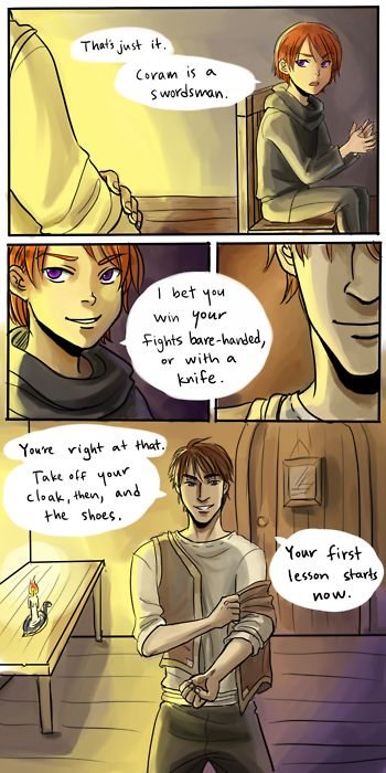 Excerpt from (chapter 3) Alanna: The First Adventure by Tamora Pierce [Song of the Lioness, book 1] | Alanna & George