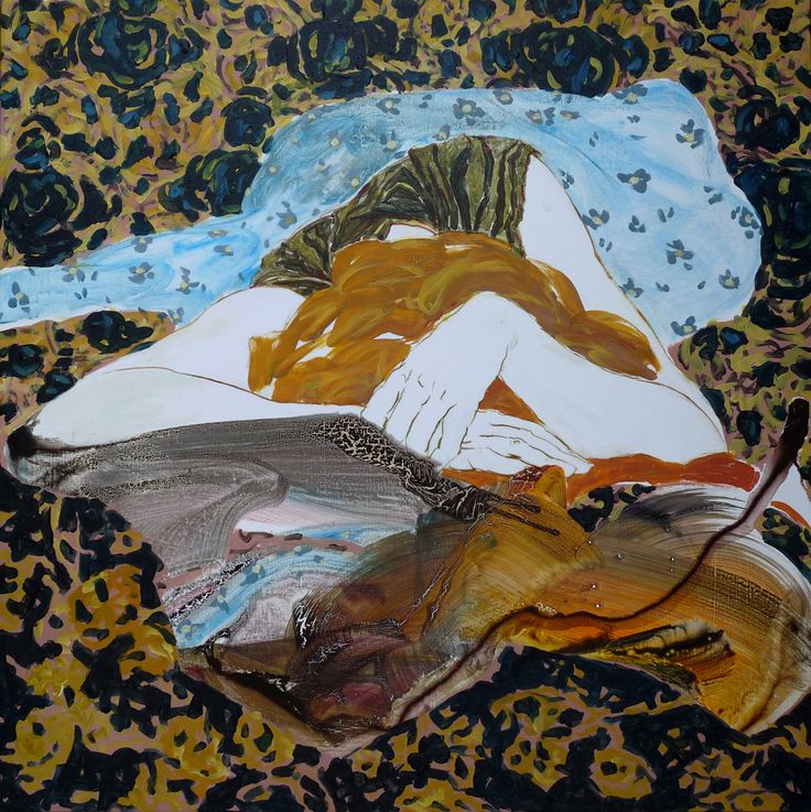 """A selection of gorgeous paintings from """"These Vulnerable Moments"""" by Florence Dussuyer."""