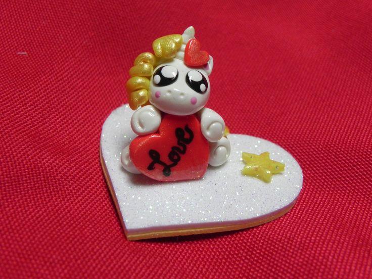 unicorno dorato san valentino