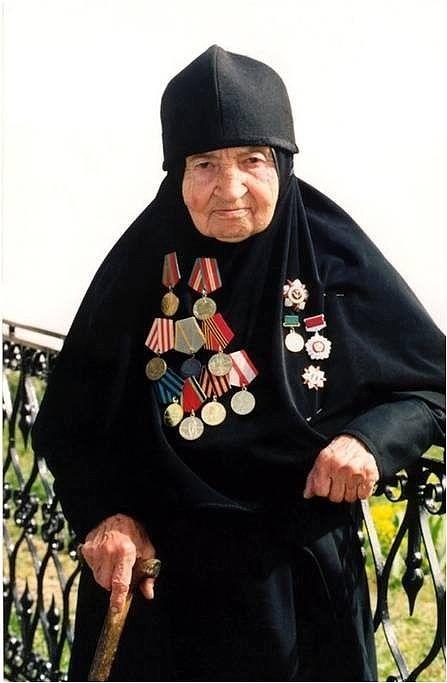 the granny - the veteran of World War II (The Great Patriotic War - in Russia)