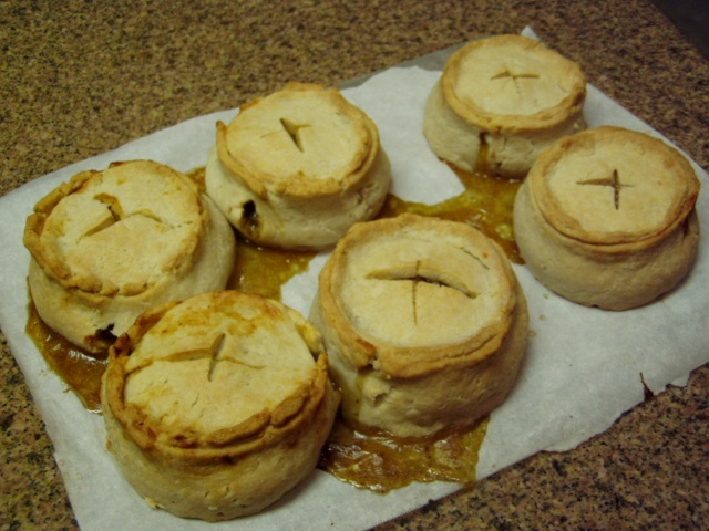 Scottish Pies...with beef filling instead of mince lamb.