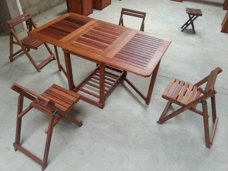 Mesa y sillas plegables para jardín