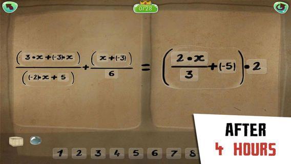 DragonBox algebra +12. Her øver man algebra på højere niveau. Man får logisk tænkning ind, så det basker. Appen koster 65 kr. Den er til dem som trænger til udfordring.