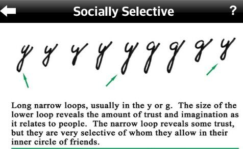 Socially selective shown in handwriting