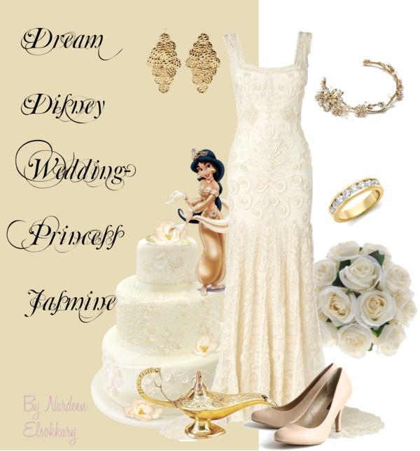 """Dream Disney wedding- Princess Jasmine"" by nardeenelsokkary on Polyvore"