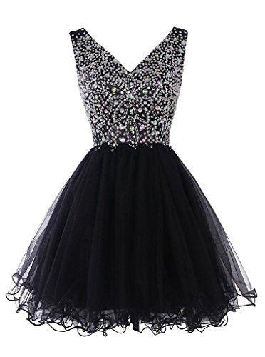 Sisjuly Women's Short V-Neck Beaded Tulle Crystals Christmas Dress Size 4 Black Sisjuly http://www.amazon.com/dp/B017LN21XC/ref=cm_sw_r_pi_dp_A832wb07P6AHR