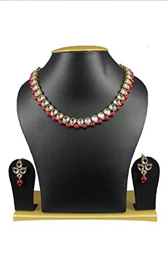 Red Pearls Traditional Indian Bollywood Kundan Gold Plate... https://www.amazon.com/dp/B01J7E1ZE4/ref=cm_sw_r_pi_dp_x_xa9lzbRY0T3MJ