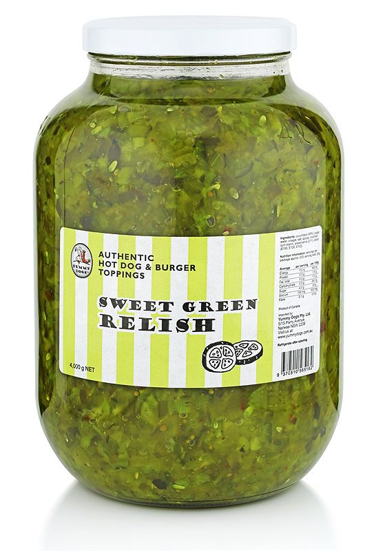 If you're tired of serving up drab and muted dishes, our refreshing Sweet Green Relish can bring new verve and energy to your food. It's goodness in a Jar.