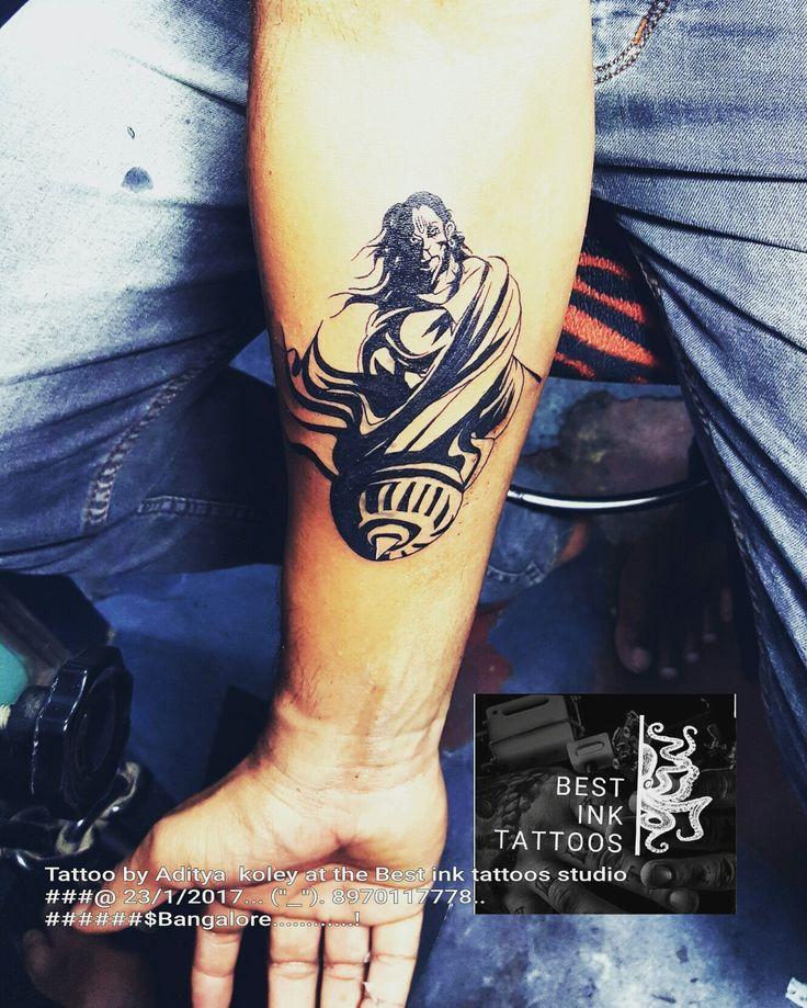 Hanuman tattoo Artist #aditya koley  Bangalore