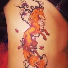 Best Geometric Tattoo - Japanese Fox Tattoo | Fox Tattoo Meaning & Ideas...